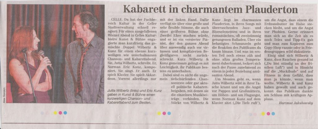 Kabarett im charmanten Plauderton - Cellesche Zeitung - 8.12.12